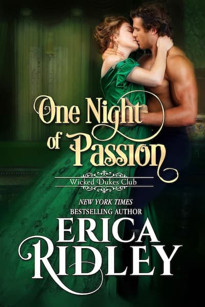 Book cover for One Night of Passion by Erica Ridley