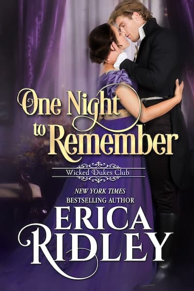 Book cover for One Night to Remember by Erica Ridley